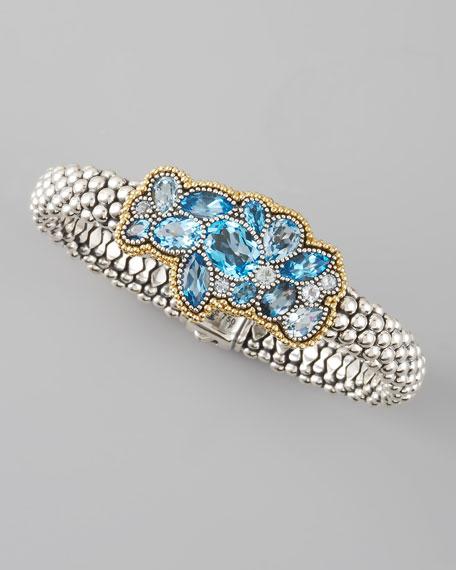Clustered Blue Topaz Rope Bracelet