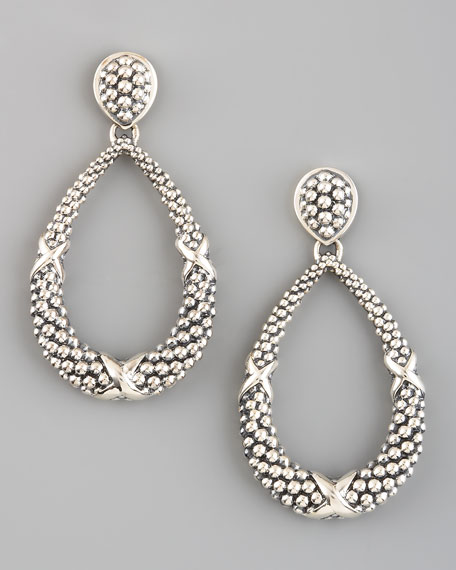 Caviar Teardrop Earrings