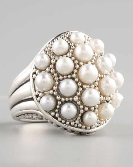 Luna Pearl Dome Ring