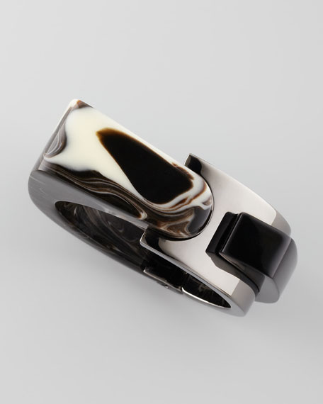 Abstract Resin Bracelet, Mocha