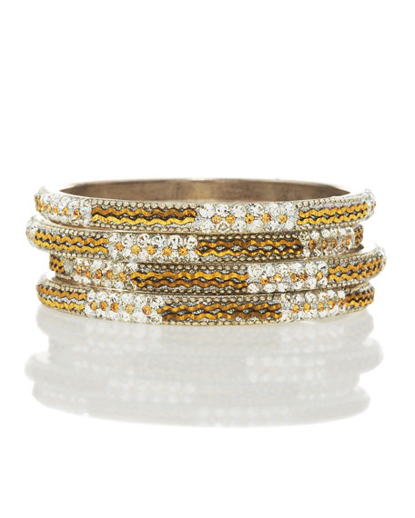 Bronze-Stripe Bangle Set