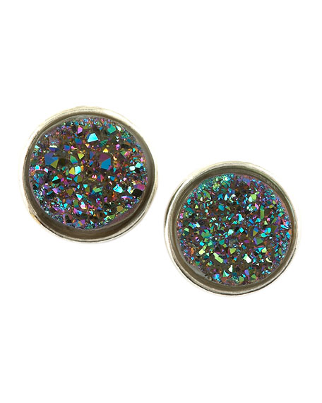 Stardust Small Druzy Stud Earrings