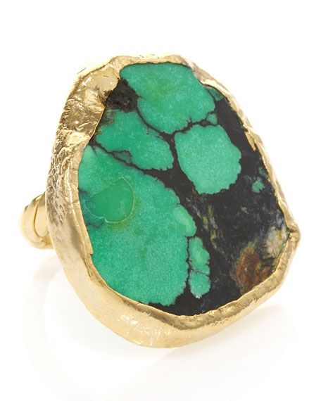 Chelsea Turquoise Adjustable Ring