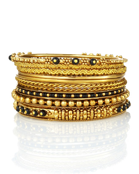 Set of 10 Seema Bangles (CUSP Most Loved!)