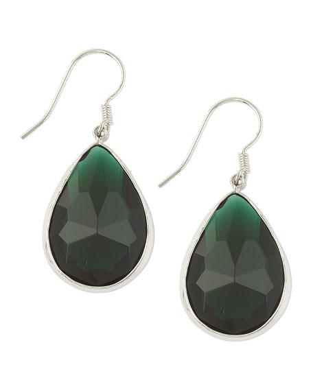 Cubic Zirconia Teardrop Earrings, Emerald