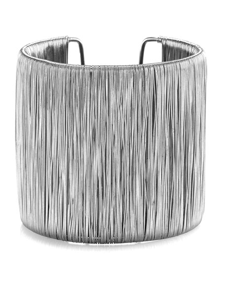 Silvertone Wire-Thread Cuff