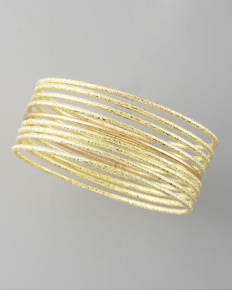 Set of Eight Golden Bangles