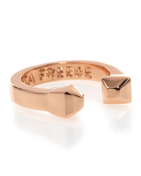 Stud-Edge Ring, Rose Golden