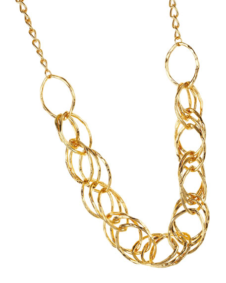 Triple-Hoop Chain Necklace