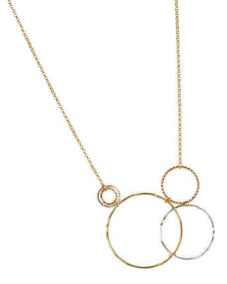 Tri-Circle Chain Necklace
