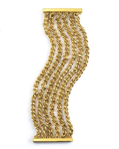 Golden Multi-Chain Bracelet