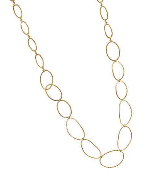 Hammered-Link Golden Necklace