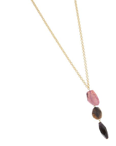 Linear Agate Pendant Necklace (CUSP Top Seller!)