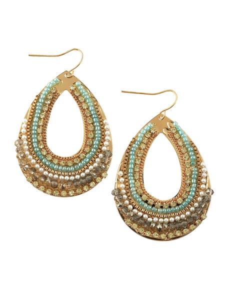 Multi-Bead & Pearl Teardrop Earrings