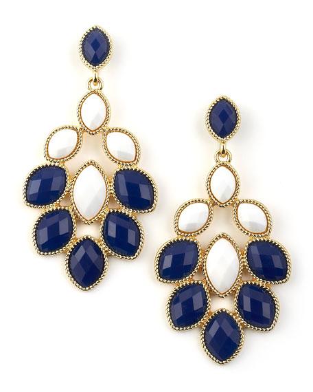 Blue & White Chandelier Earrings