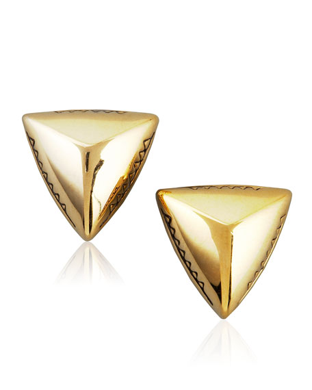 House of Harlow Faceted Triangle Stud Earrings