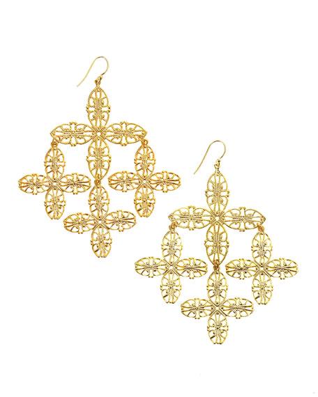Snowflake Filigree Earrings