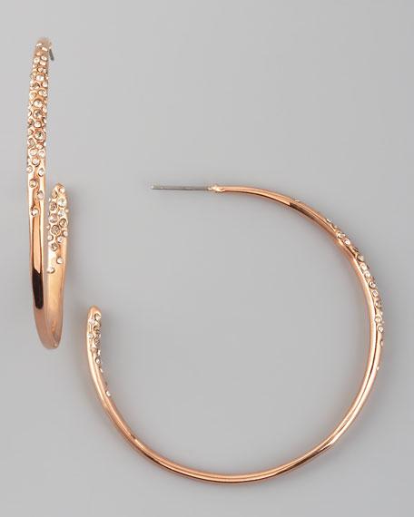 Rose Gold & Crystal Hoop Earrings