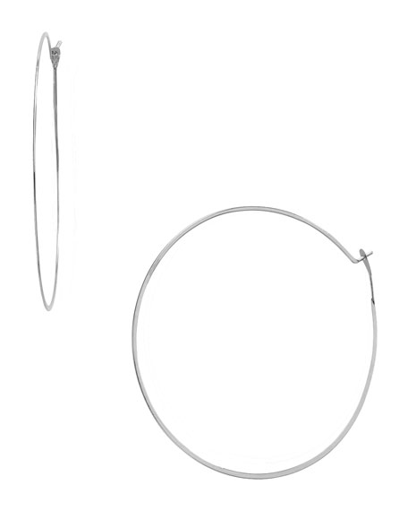 Whisper Medium Hoop Earrings, Silver-Color