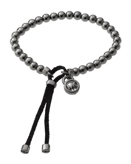 Bead Stretch Bracelet, Hematite-Color
