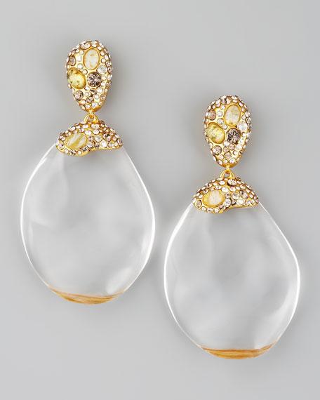 Modernist Golden Earrings