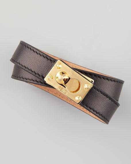 Leather Wrap Bracelet, Black