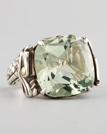 John Hardy Naga Batu Ring Green Amethyst