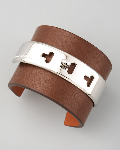 Lambskin Cuff, Dark Brown