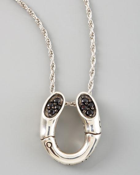 Bamboo Horseshoe Pendant Necklace