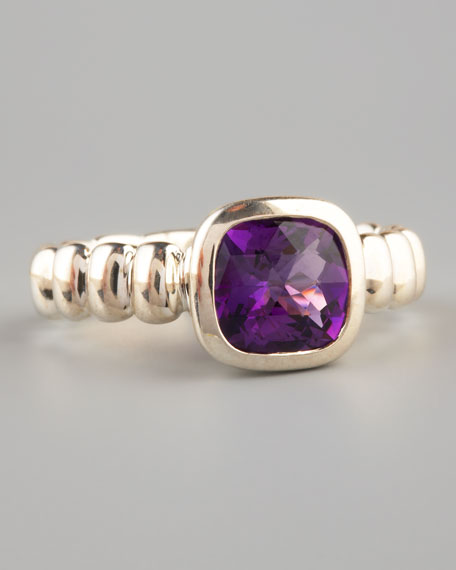 Square Station Ring, Amethyst
