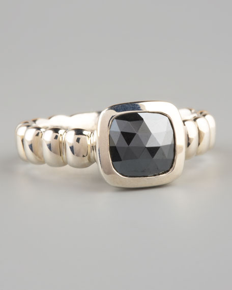 Square Station Ring, Hematite