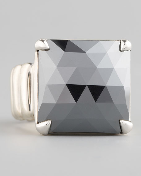 Princess-Cut Ring, Hematite