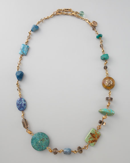 Multi-Beaded Stone Necklace