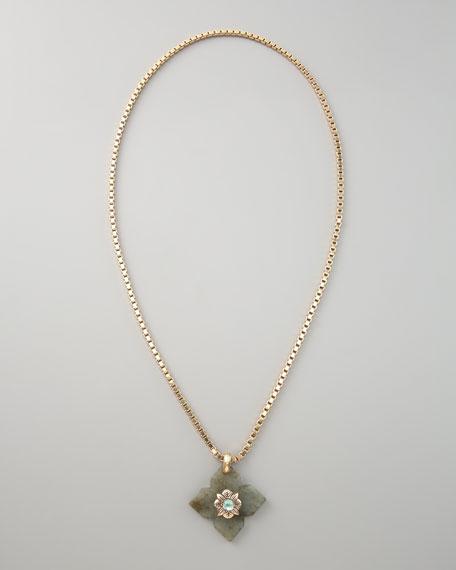 Labradorite Clover Necklace