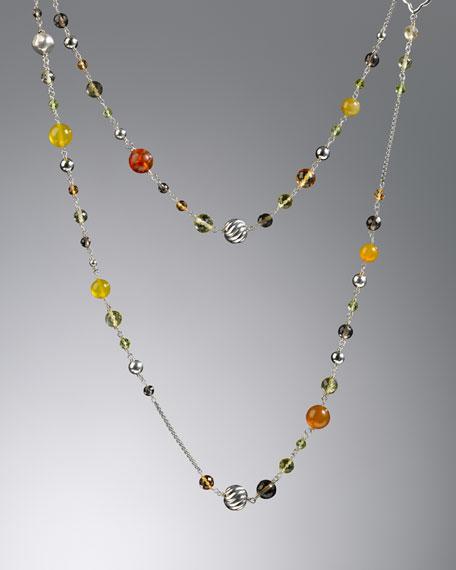 "Bijoux Necklace, Citrine, 50""L"