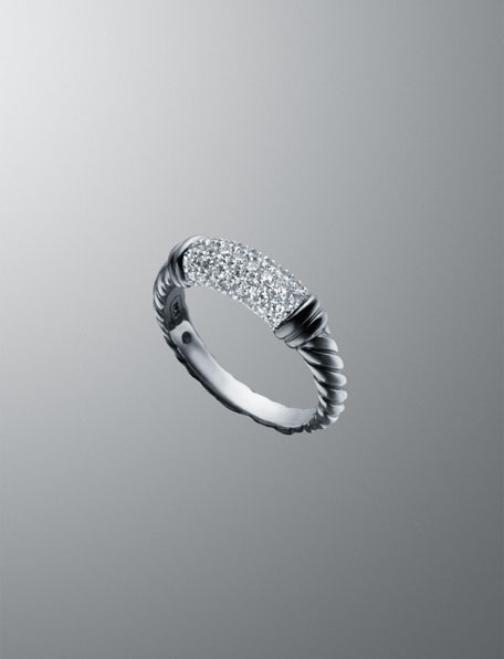 White Ice Metro Cable Ring