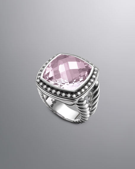 Moonlight Ice Ring, Lavender Amethyst, 17mm
