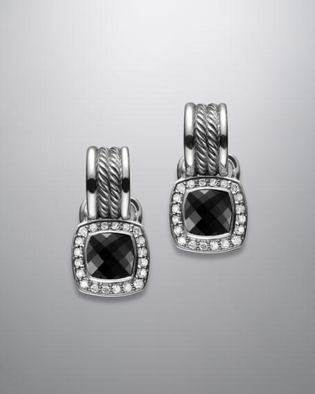 7mm Black Onyx Wheaton Hoop Earrings