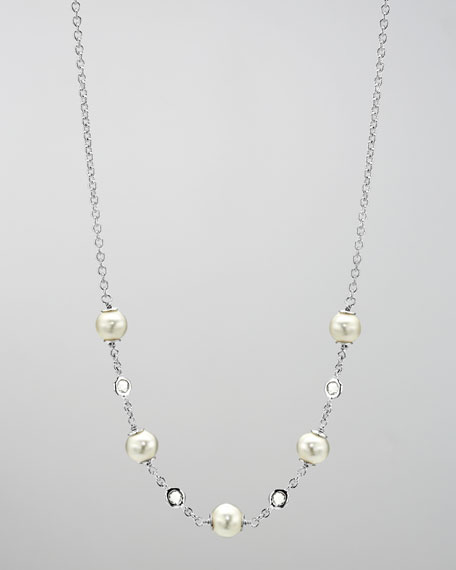 "Pearl Rain Satin Necklace, 18""L"