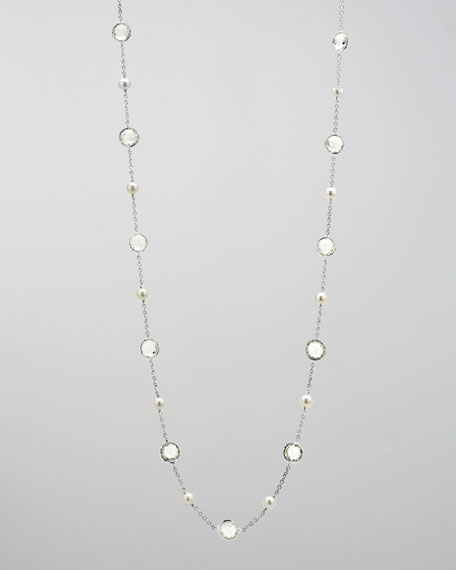 "Pearl Rain Necklace, 37""L"