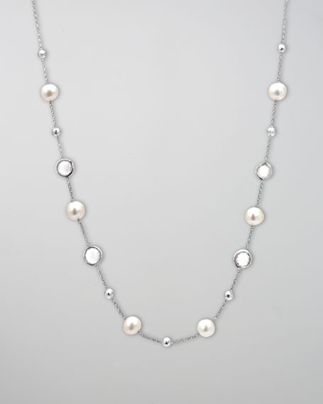 "Pearl Rain Station Necklace, 27""L"