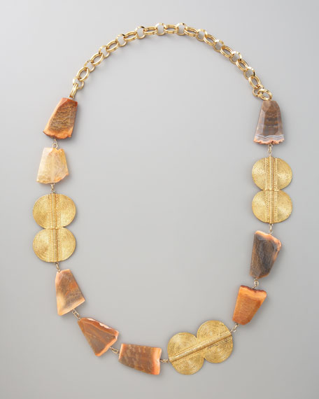 Peach Agate Necklace