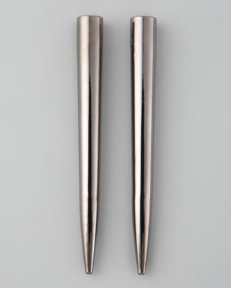 Spike Earrings, Gunmetal