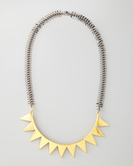 Two-Tone Smile Necklace