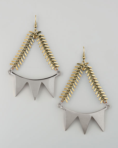 Mixed-Metal Smile Earrings