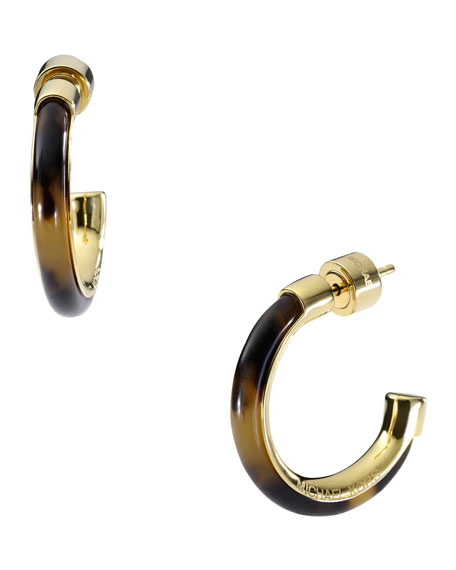 Hoop Earrings with Tortoise Design Detail