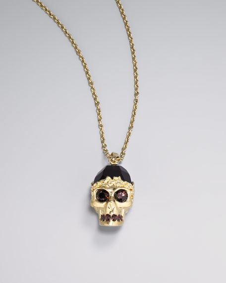 Golden Skull Pendant Necklace