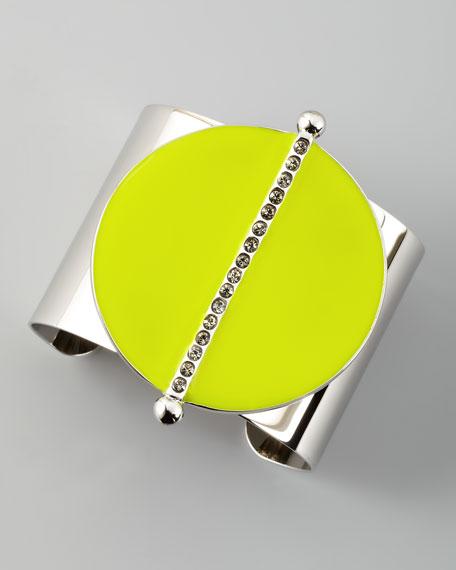 Neon Semicircle Cuff, Yellow