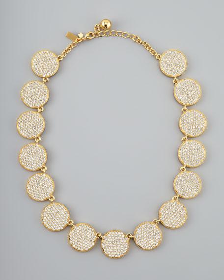 bright spot crystal collar necklace