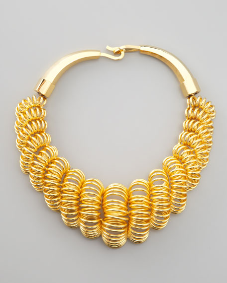 Coil Hook-Closure Necklace, Golden